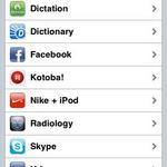Find RadX Mobile icon within the settings option for the iPhone.
